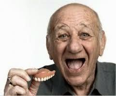 Elderly Man w/ Dentures Out