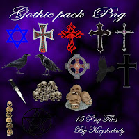 Gothic pack PNG tubes