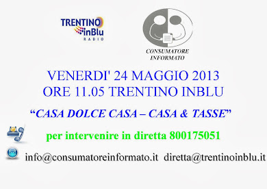 venerd 24 maggio 2013 - ore 11:05 Trentino inBlu Radio