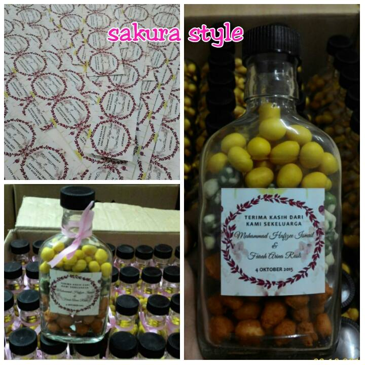 Choco Bites Dan Doorgift Botol Kacang 3 Layers