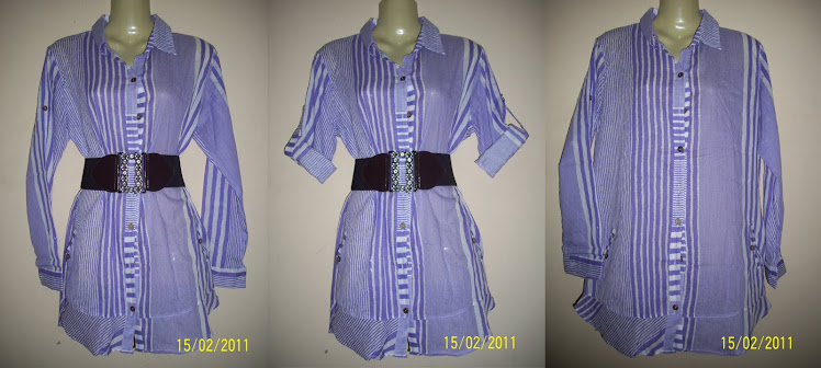 Blouse Purple Jalur Lebar - FR 31