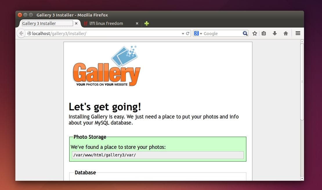 Gallery3 in Ubuntu