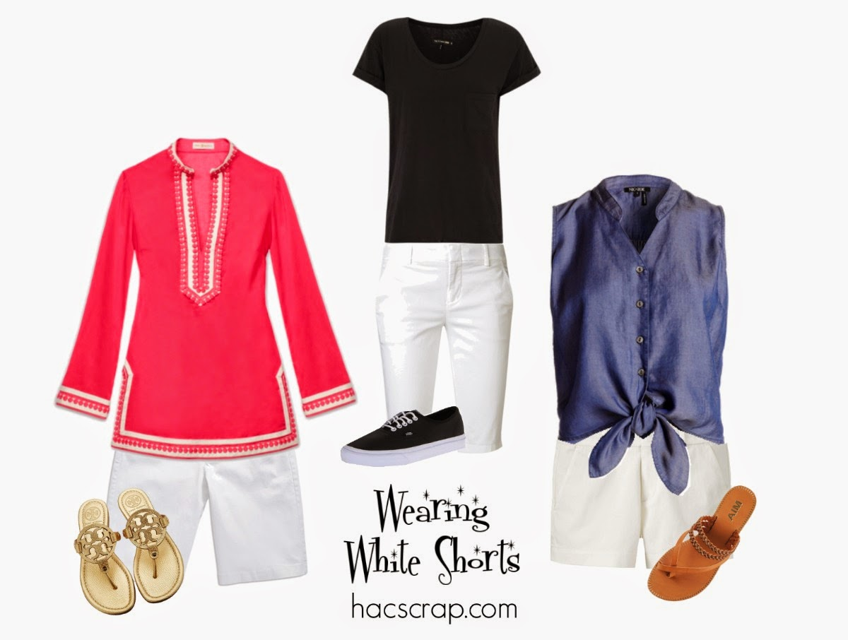 My Scraps | Styled White Shorts for Mid-Life Women