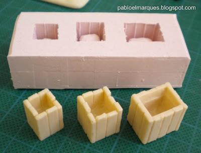 Molde silicona y copias resina