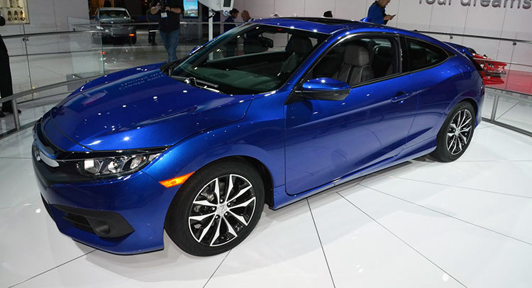2016 honda civic coupe flaunts bold new looks in la