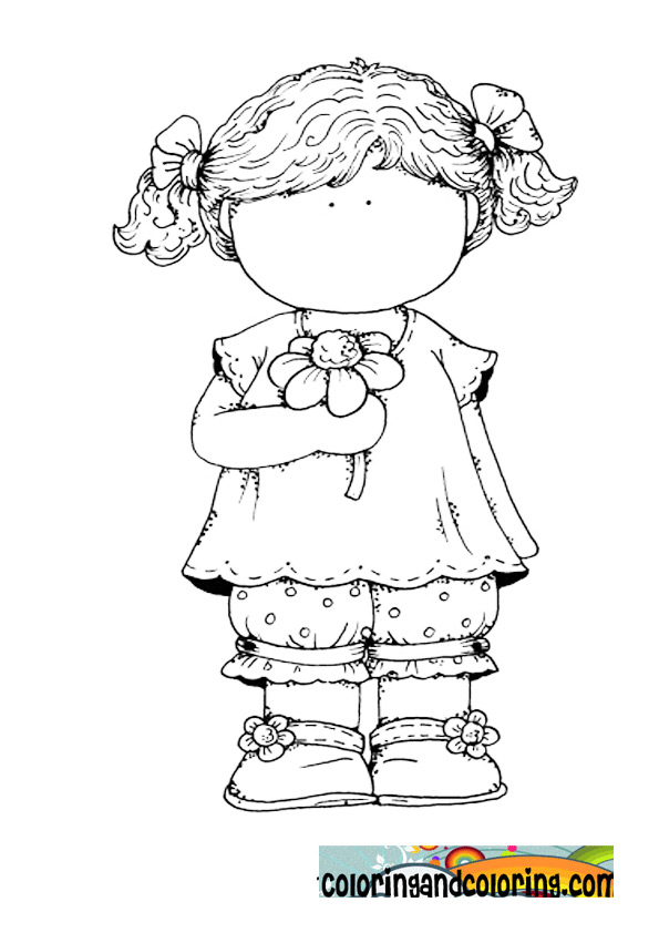Flower Girl Coloring Book: Coloring pages for girls flowers az.