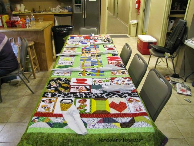how to set up tables for a quilt retreat