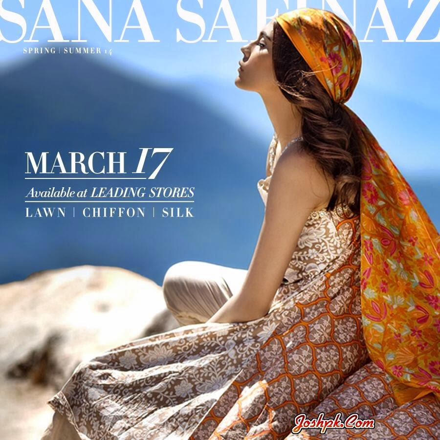 Exclusive Women Summer Lawn Collection 2014 By Sana Safinaz