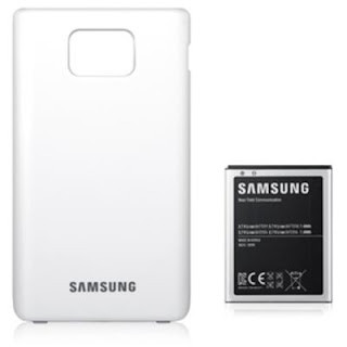 Samsung Extended battery kit for Galaxy S ll, White