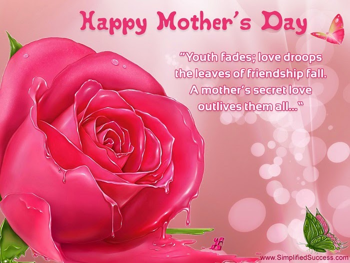 Mothers day wishes on pick card