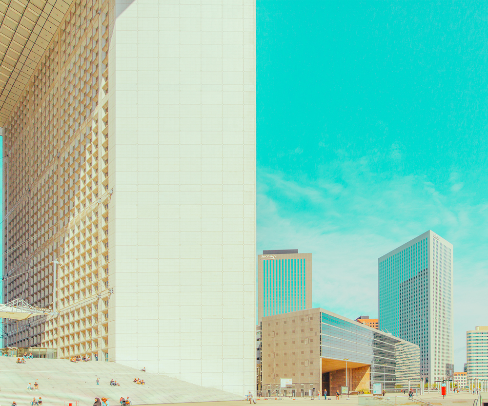 08-La-Defense-Ben-Thomas-Photographs-that-look-like-Pastel-Colored-Illustrations-www-designstack-co