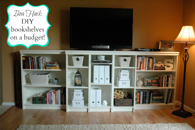 built in billy bookcases our first ikea hack april swiger. Black Bedroom Furniture Sets. Home Design Ideas