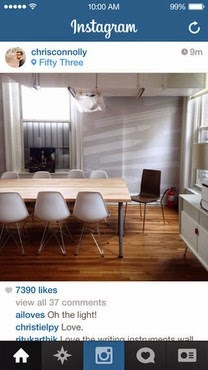 Interface app Instagram
