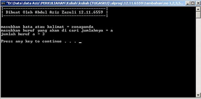 Program Pencari Huruf pada Kata Inputan di C/C++