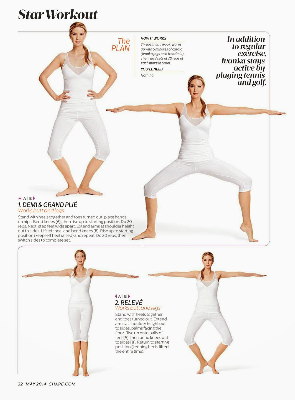 ... - The Charmer Pages : Ivanka Trump For Shape Magazine, US, May 2014