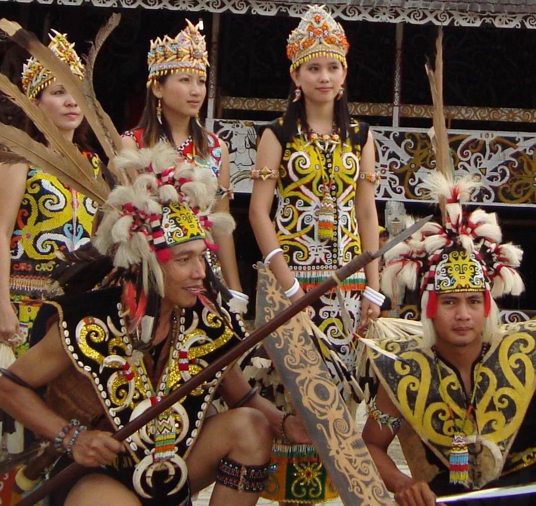 Indonesian Culture Ensyclopedia: Dayak Tribe Clothes: Blend With the ...