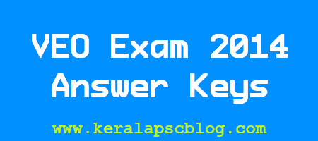 Village Extension Officer [VEO] Exam 2014 Answer Keys