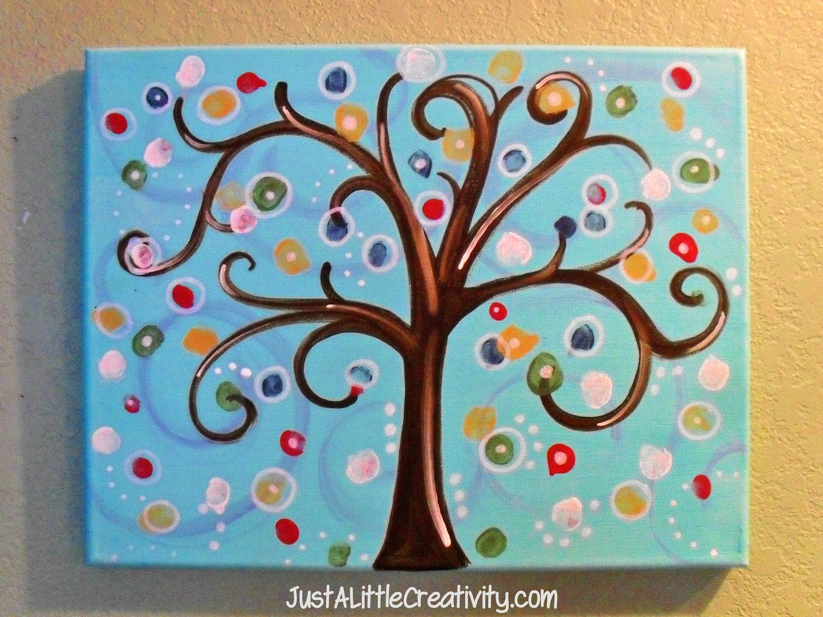 Creative Family Tree Ideas For Kids Diy thumbprint tree- modernFamily Tree Ideas For Kids Project