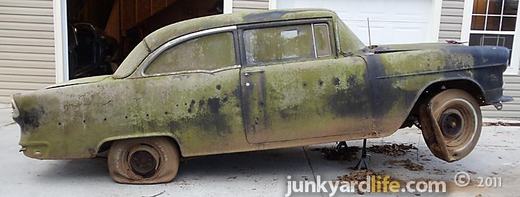 Barn Find: 1955 Chevrolet Bel Air, vintage hot rod project is drag