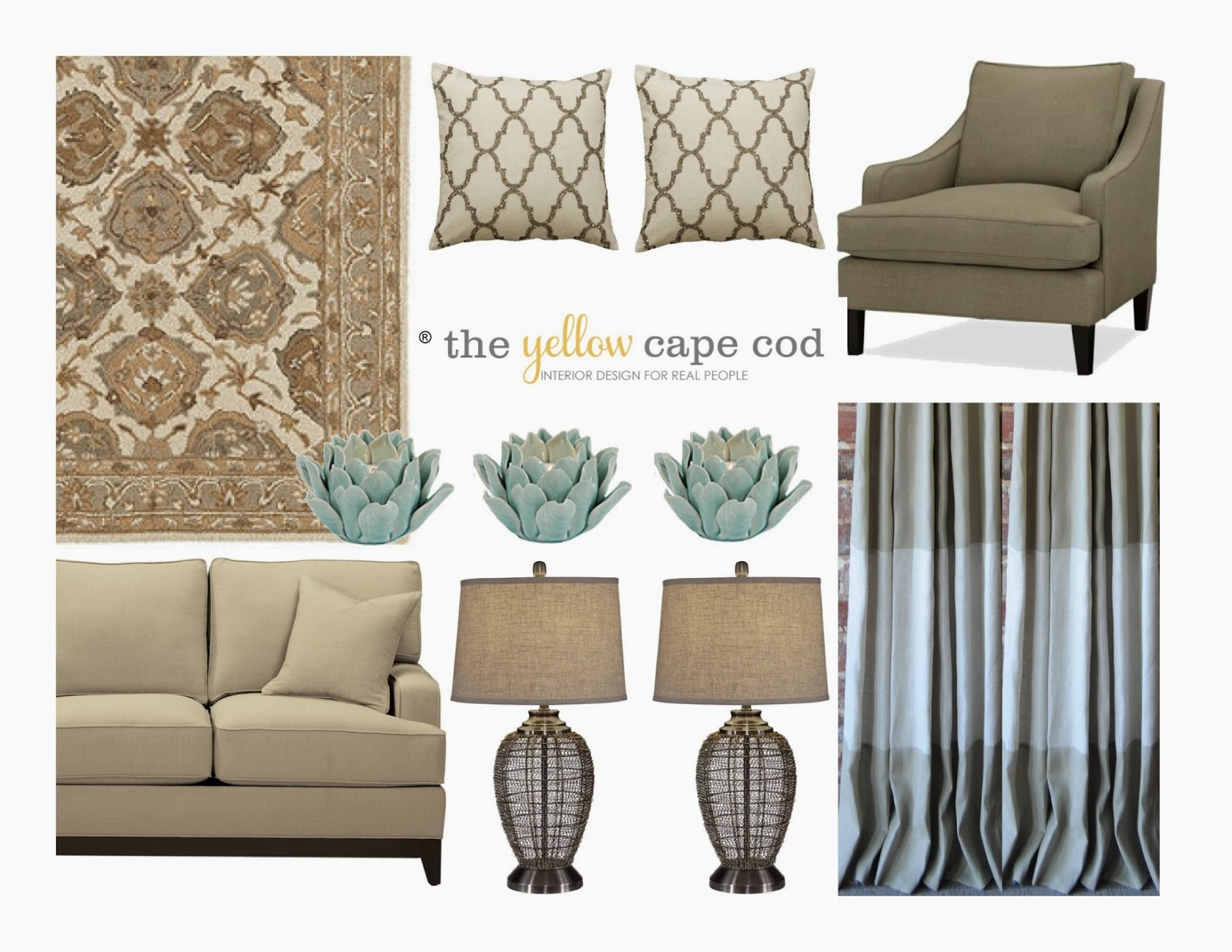 Living Room Turquoise The Yellow Cape Cod Whole House Design Projectlinen Gray And