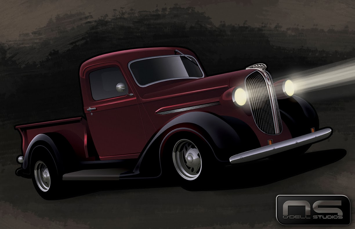 street rods hot rod pickups custom trucks art drawing