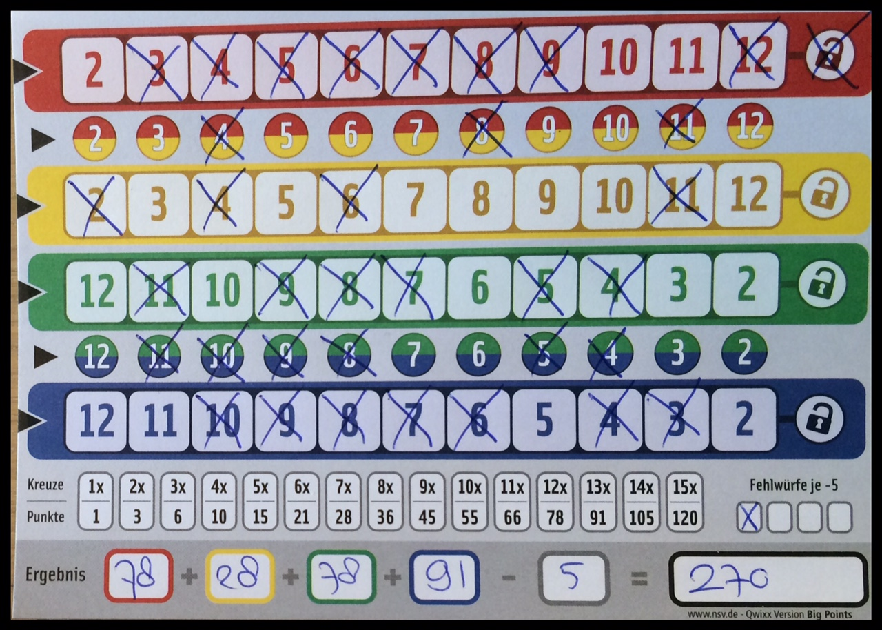 Playful image pertaining to qwixx score sheet printable