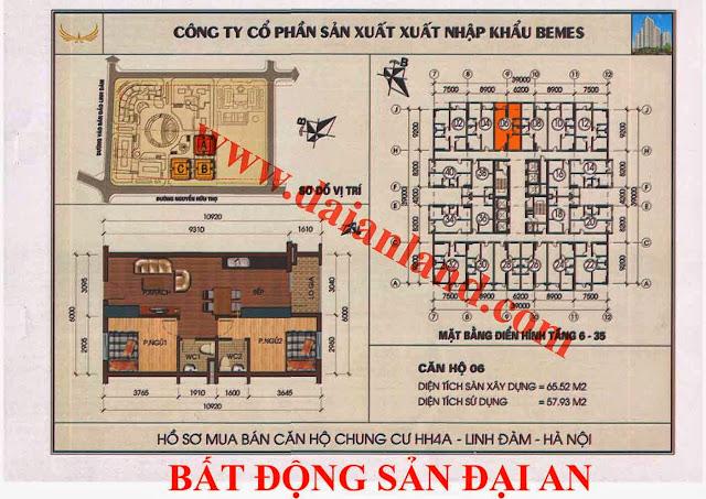 Căn hộ số 06 - Chung Cư HH4A Linh Đàm