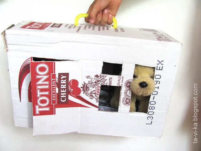 переносной домик для щенка поделка