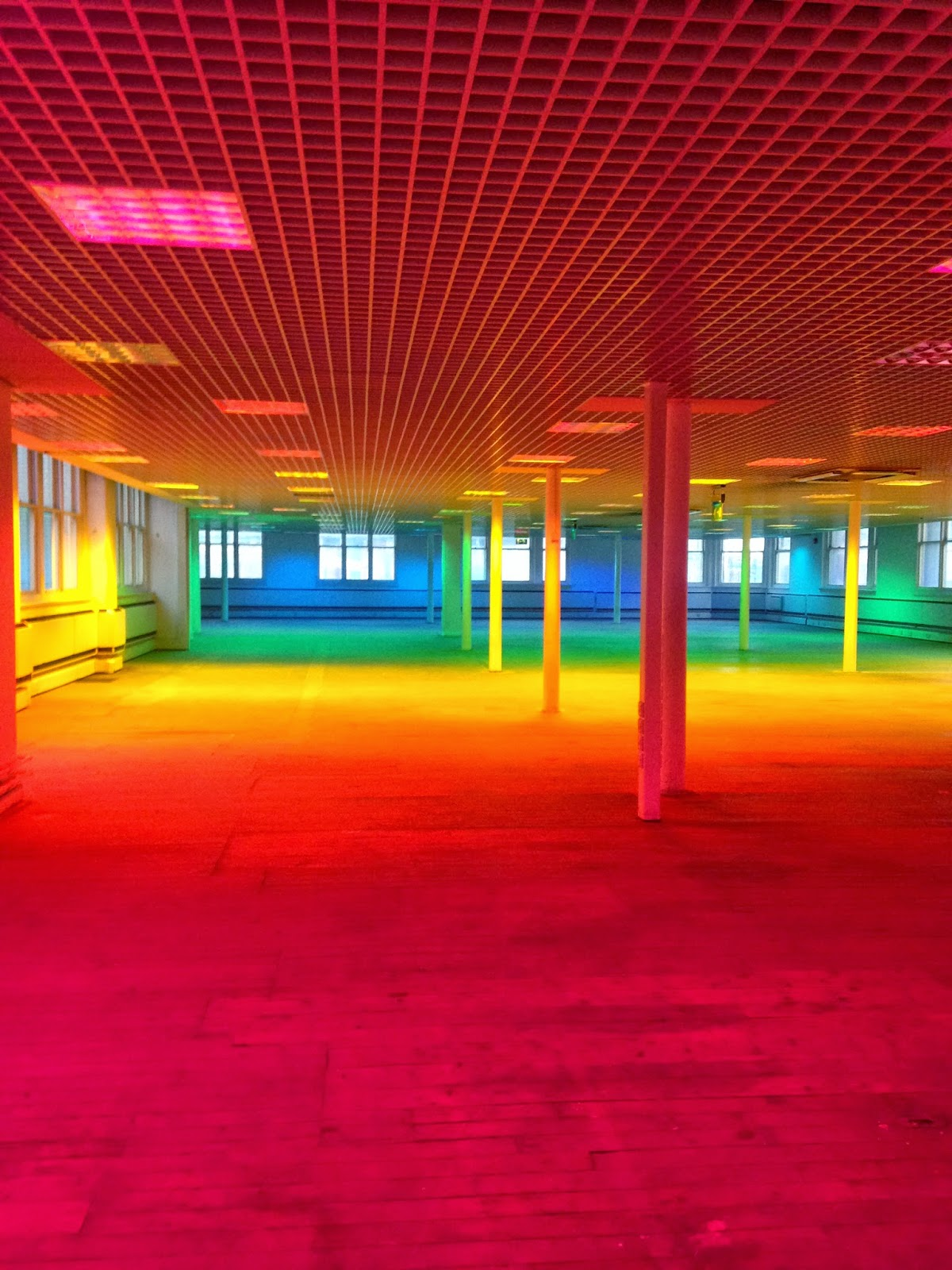 Coloured light installation