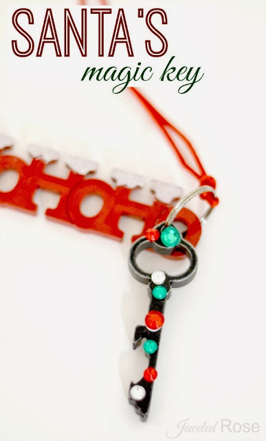 Santa's MAGIC Key- how Santa gets in the houses without chimneys.  Have kids hang it outside your door just before bed on Christmas Eve.