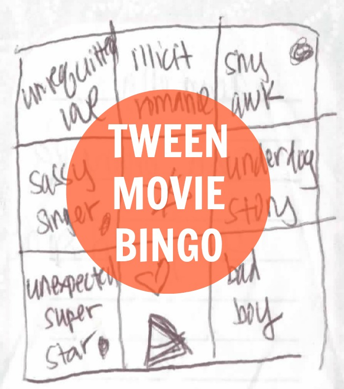 printable movie bingo, teen movies