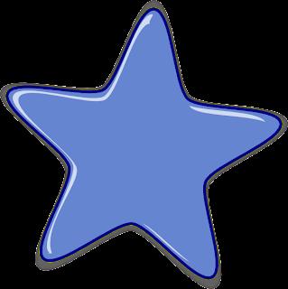Desenho de estrela colorida