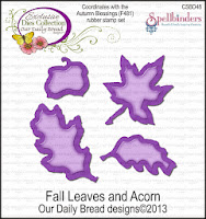 "ODBD Custom ""Fall Leaves and Acorn"" Die Set"