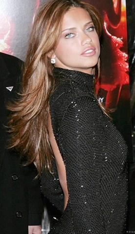 Adriana Lima posee unos bellos ojos claros