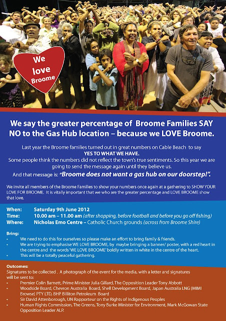 hands off country broome families say no to the gas hub at james