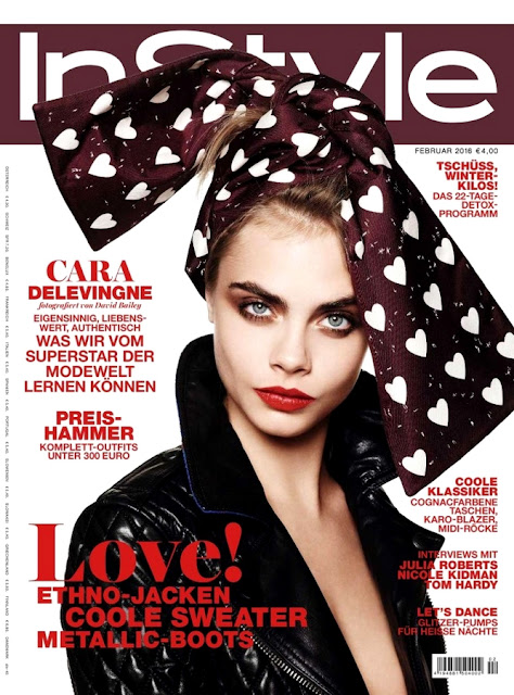 Actress, Singer, Model, @ Cara Delevingne - InStyle Germany, February 2016
