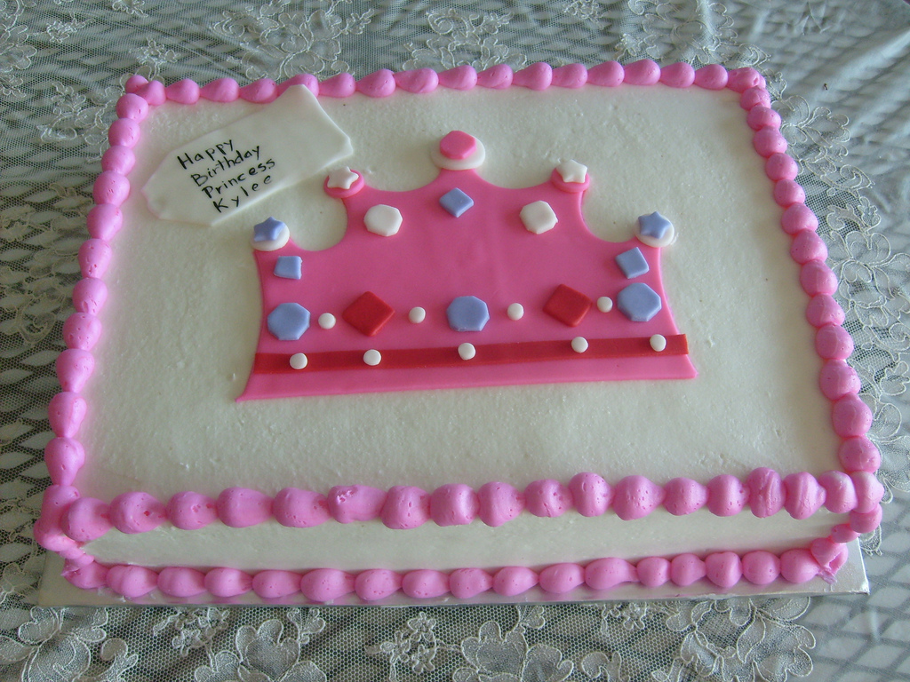 Pink Wedding Cakes With A Crown It