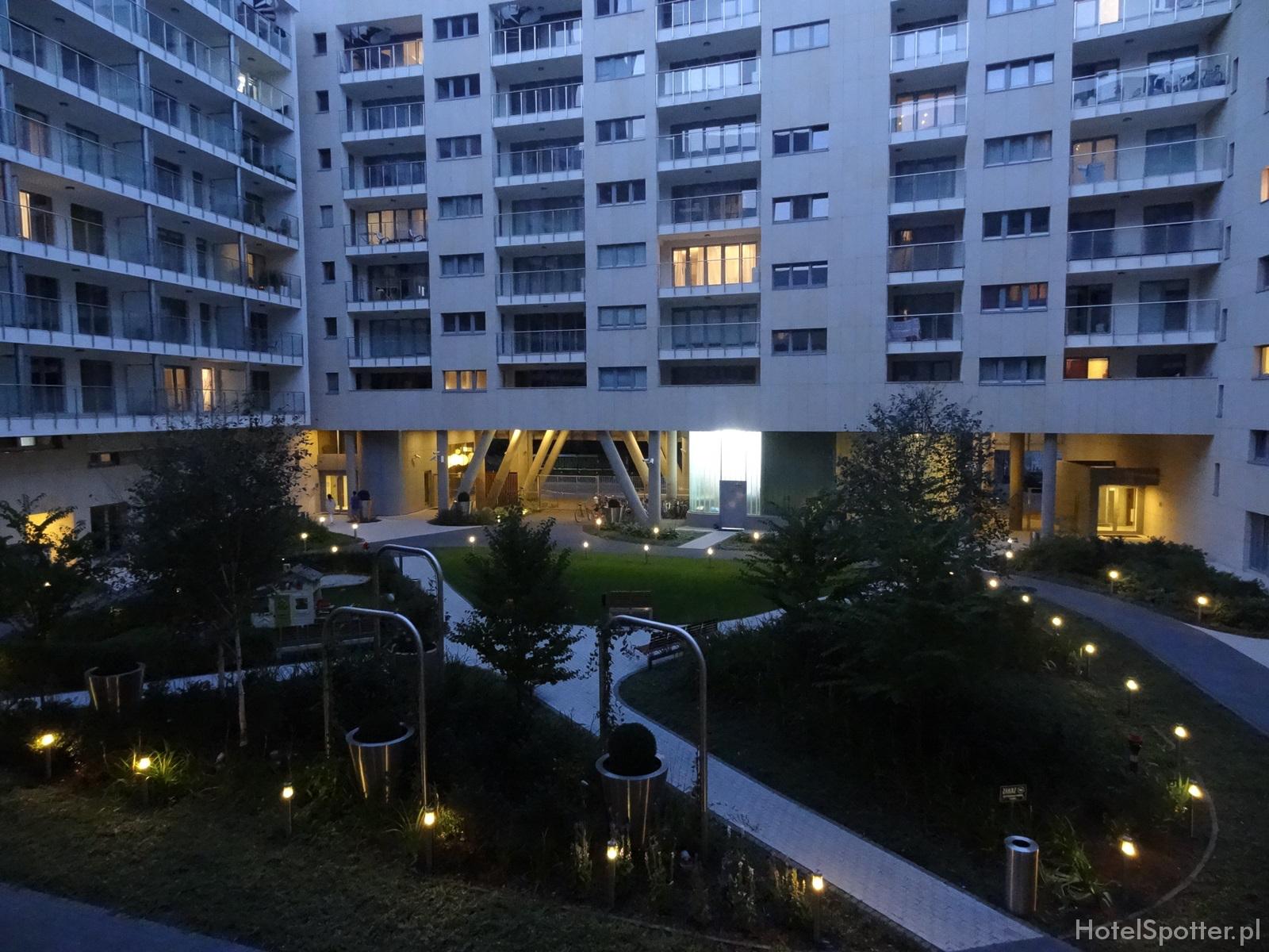 Oxygen Residence Warszawa Apartament Studio zielone patio