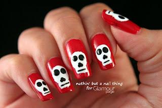 Glamourpage.com:  Skull Nail Art Tutorial