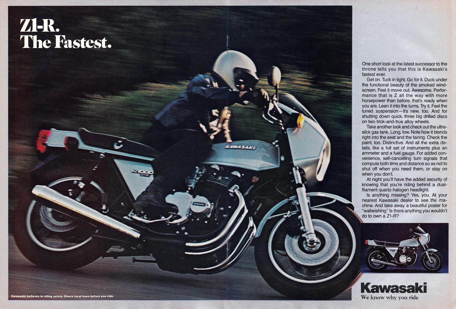 Racing Caf 232 Vintage Brochures Kawasaki Z1 R 1978 Usa