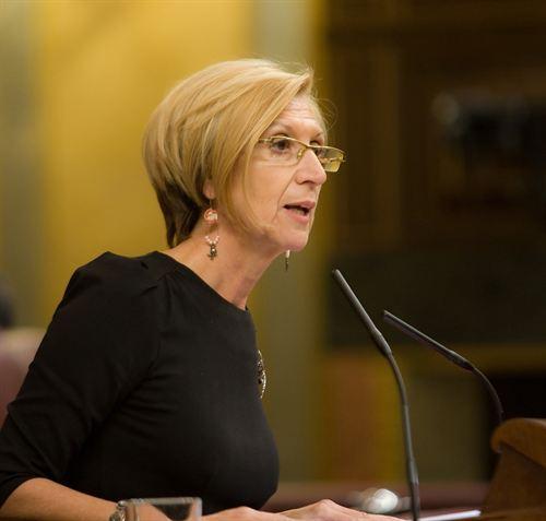 La portavoz de UPyD en el Congreso, Rosa Díez