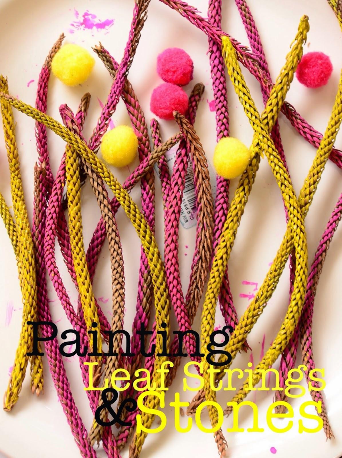Painting Leaf Strings & Stones (Art Studio Diaries #4)