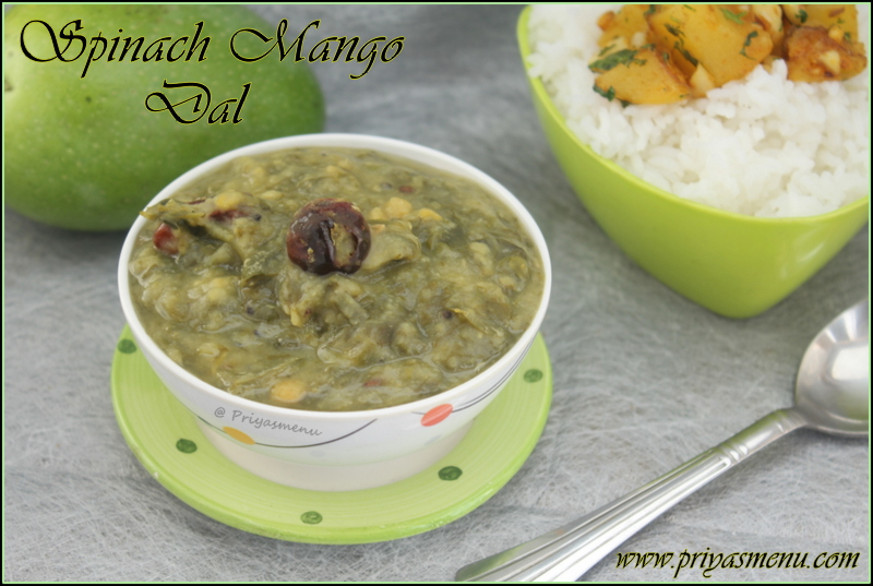 Spinach Mango Dal