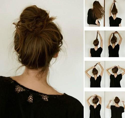How to make quick hair pony for ladies
