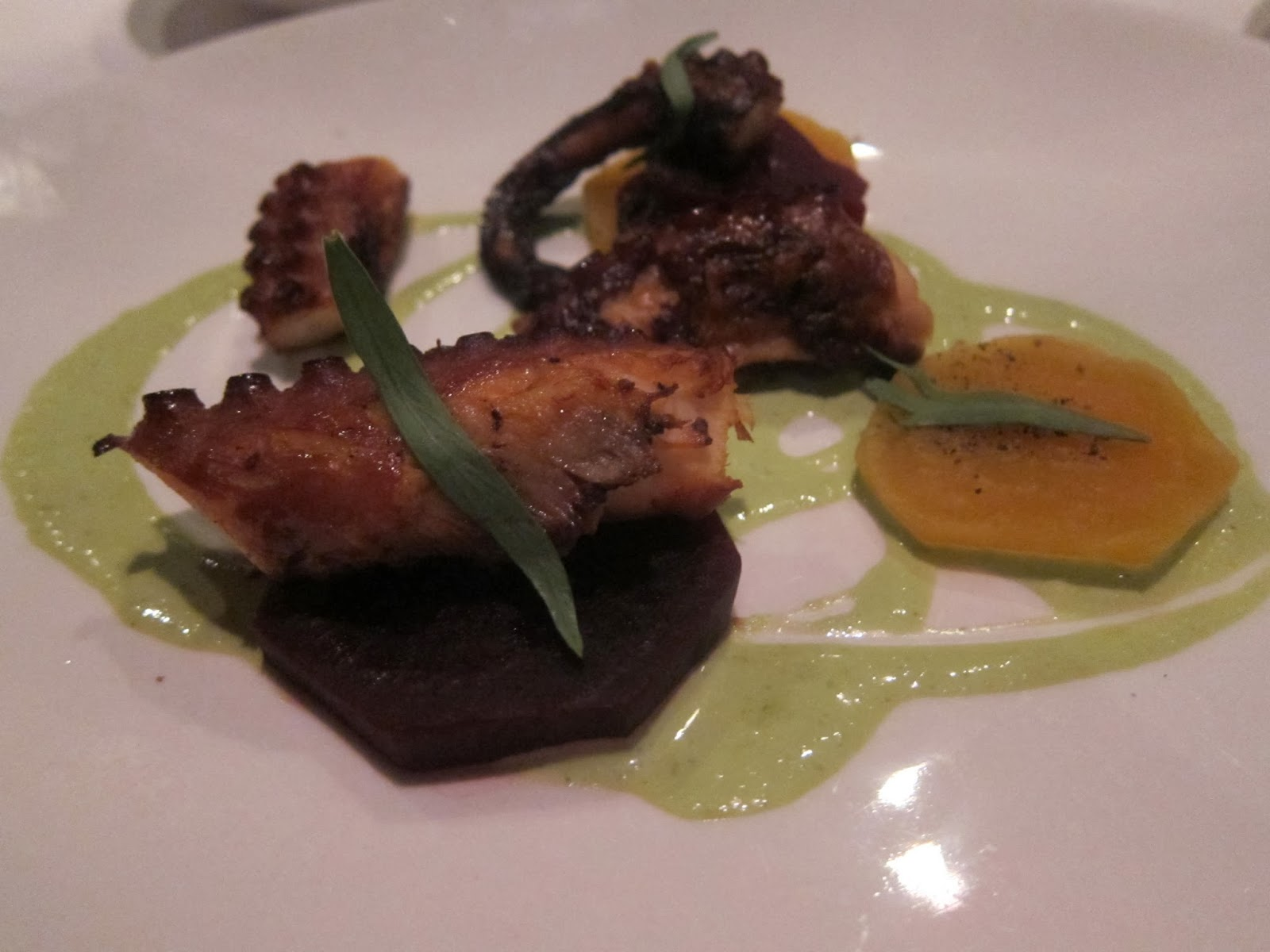 Grilled Octopus at FISH Restaurant in Marlborough, MA | The Economical Eater