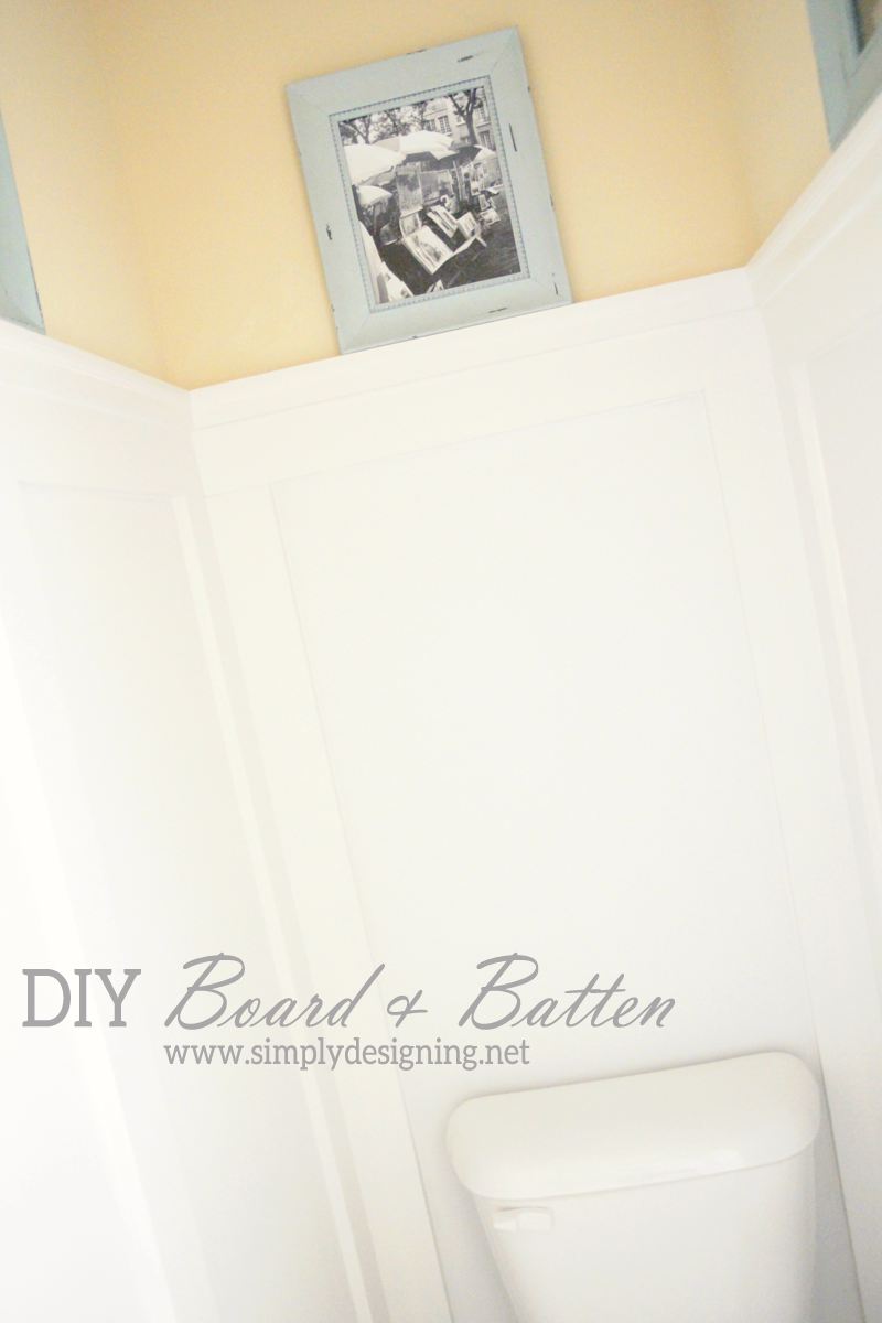 DIY Board and Batten Without Removing Your baseboards on tile board bathroom, batten with beadboard, cement board bathroom, batten wall treatment, concrete board bathroom, particleboard bathroom, easy wall treatments for bathroom,