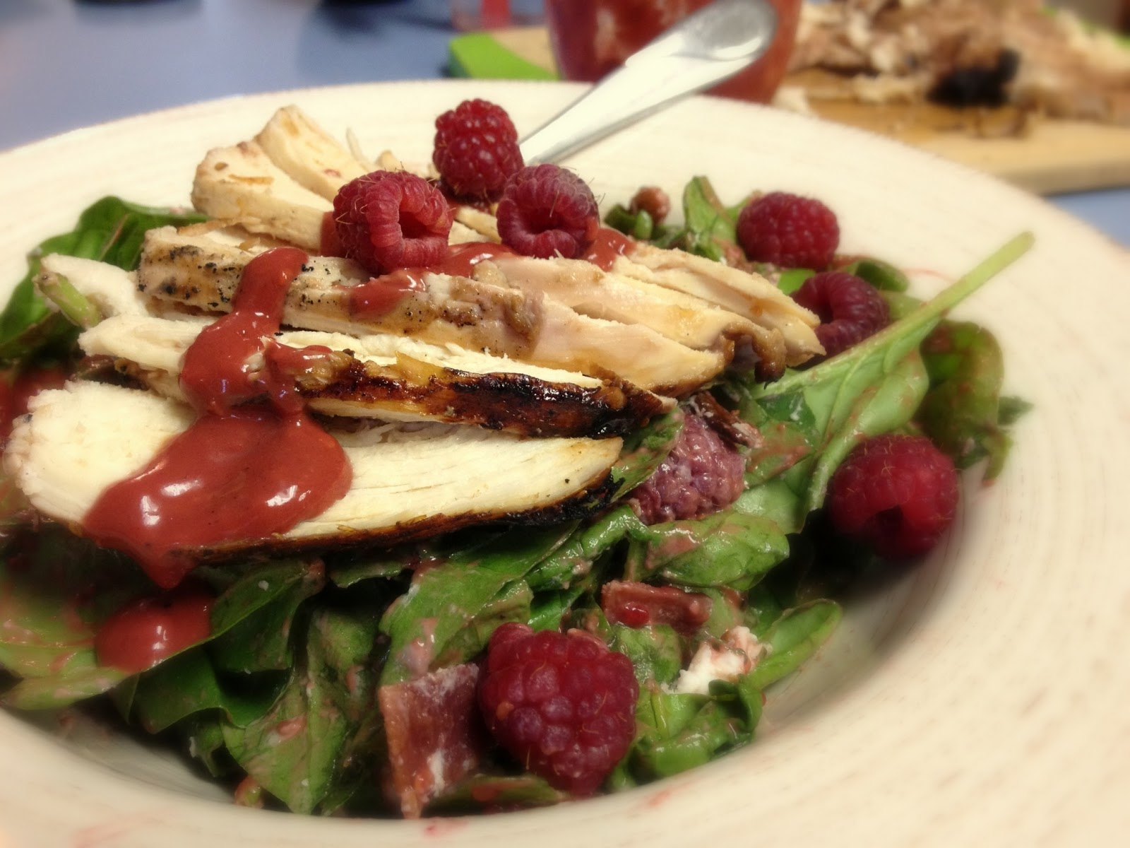 ... Grilled Chicken Salad {with Roasted Raspberry Balsamic Vinaigrette