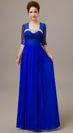 Half Lace Sleeve Curvy Sequin Chiffon Dress