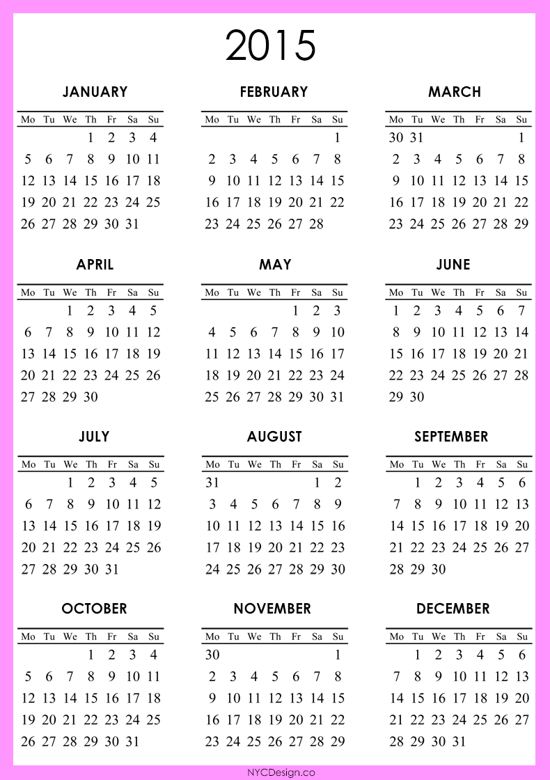 Free Calendar 2015 Printable Full Size/page/2   New Calendar Template ...