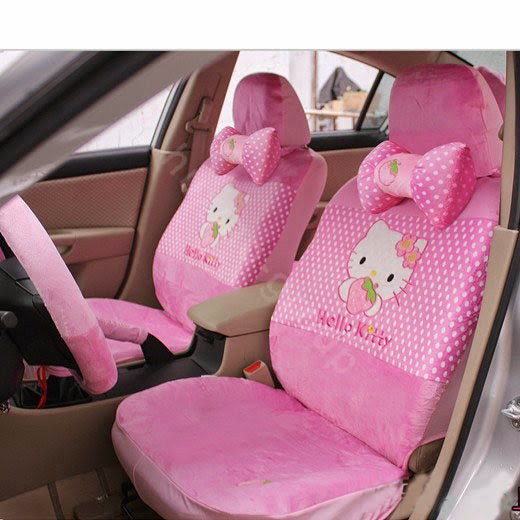 hello kitty car seat covers pink